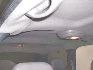 02 Chevrolet Tahoe headliner board replaced