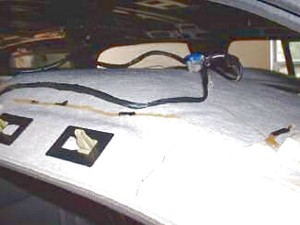02 Chevrolet Tahoe headliner board wiring harnesses