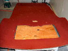 Ford Bronco 11 recovered headliner board
