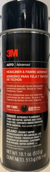 3M advanced auto headliner spray aerosol adhesive.