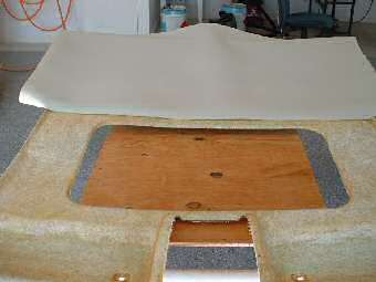 recovering the jaguar xj8 headliner board