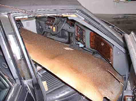 Removing the headliner board from the Cadillac Fleetwood