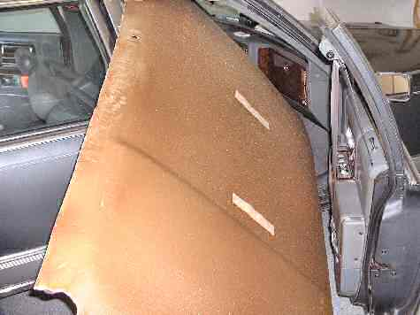 91 Cadillac Fleetwood Headliner removed from car