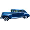 1946 to 1948 Plymouth Special Deluxe 4 door Sedan headliner