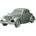 1937 to 1939 Plymouth Coupe replacement headliner