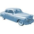 1949 to 1952 Dodge Coronet 2 door sedan headliner
