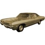 1965 to 1970 Caprice 4 door replacement headliner