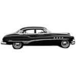 1951-53 Buick 4 door sedan headliner