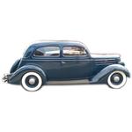 1935-37 Pontiac 2 door slantback headliner