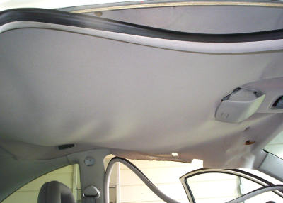 sagging volkswagon beetle headliner